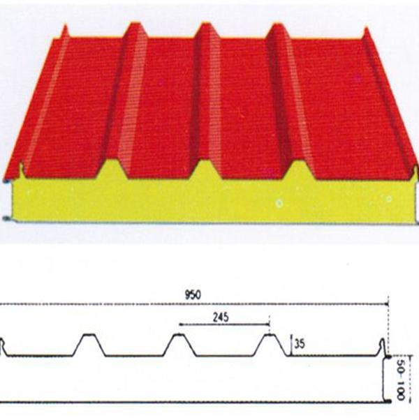 保定聚氨酯PU夹芯屋面板YX35-245-950型